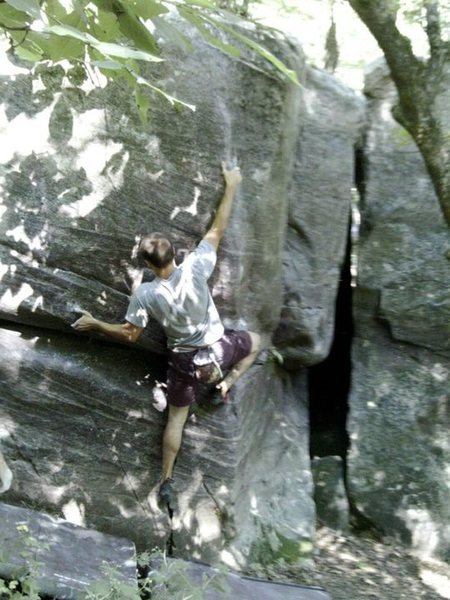 Rock Climbing Photo: Flying!