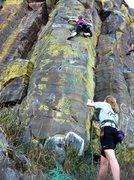 Rock Climbing Photo: Jocelyn belays Kristy on Fairway to Heaven