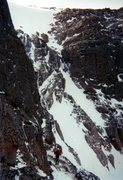 Rock Climbing Photo: Jay traversing the crux to the Loft, attempt at Pa...