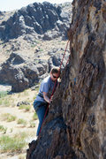 Rock Climbing Photo: My ex-wife climbing Cool Enough 5.8