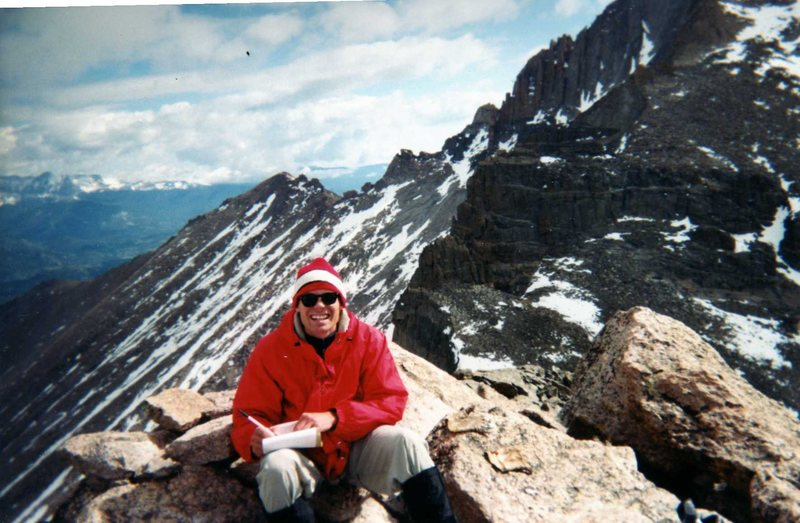 Rock Climbing Photo: Jay atop Navahoe, Indian Peaks.