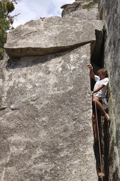 Rock Climbing Photo: pushing the rock apart