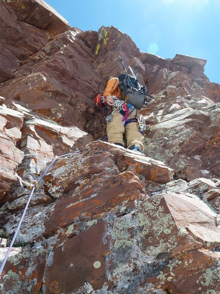 Rock Climbing Photo: Bells traverse.  Took this little roof pitch to av...