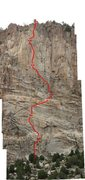 Rock Climbing Photo: Here is the topo for Echoes!