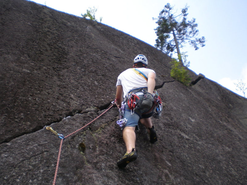 Rock Climbing Photo: fun route.