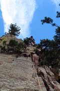 Rock Climbing Photo: Leading off on P2 of Swanson's Arete.