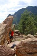 Rock Climbing Photo: little flatiron - V2