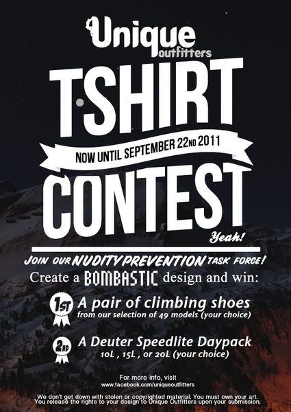 Rock Climbing Photo: Unique Outfitters T-Shirt Contest
