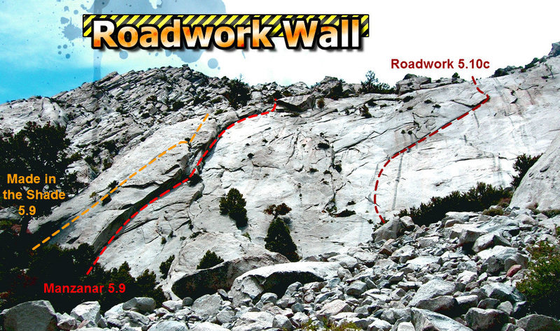 An uninformative, over-photoshopped topo for Roadwork wall.