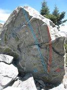 Rock Climbing Photo: Zen Steps (blue)