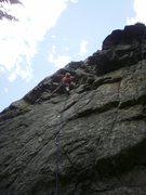 Rock Climbing Photo: Cruising up Tese.