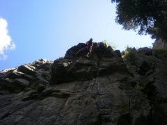 Rock Climbing Photo: Finishing the roof.