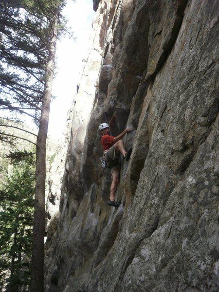 Rock Climbing Photo: Starting the crux on TR.