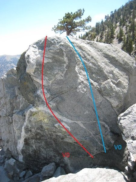 Rock Climbing Photo: Proper Motion (blue)