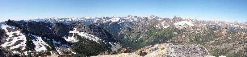 Rock Climbing Photo: Summit panorama