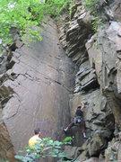 Rock Climbing Photo: Anna climbs Zorro Corner, with Zorro in good view ...