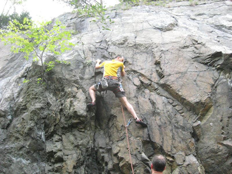Rock Climbing Photo: Frank climbs Pseudo Slab.