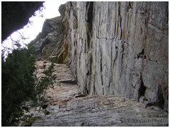 Rock Climbing Photo: Corner Journey, 5.8, Lake Louise