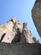 Rock Climbing Photo: Crumbly crack, crumbly jugs...crimper finish...you...