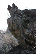 Rock Climbing Photo: nice boulder near base of cliffs. good luck.