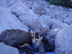 Rock Climbing Photo: High foot.