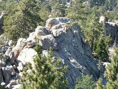 Rock Climbing Photo: Castle Rock Slab from the top of Castle Rock