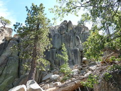 Rock Climbing Photo: Castle Rock - North Face, Big Bear