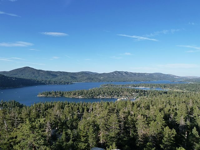 Big Bear Lake from the top of Castle Rock, Big Bear