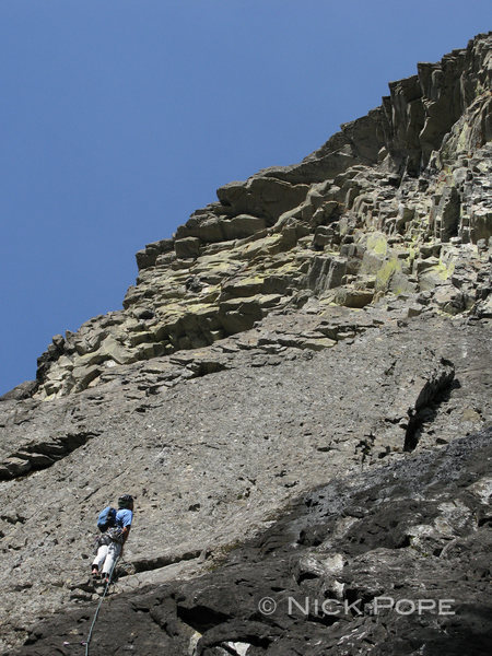 Rock Climbing Photo: Pete Keane contemplates the steepness from low on ...