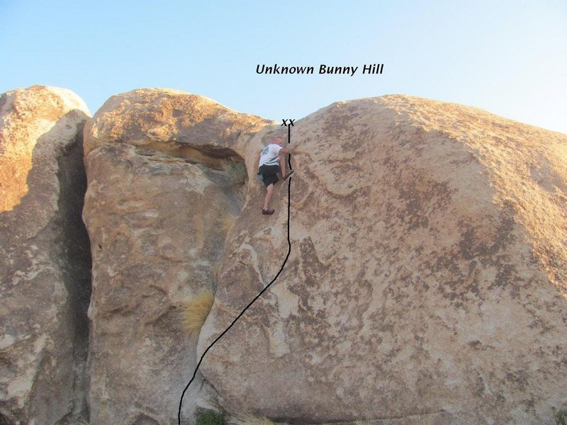 Rock Climbing Photo: Some old guy solo on the bunny hill.
