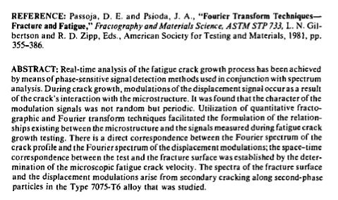 Fourier Transforms in Material Science