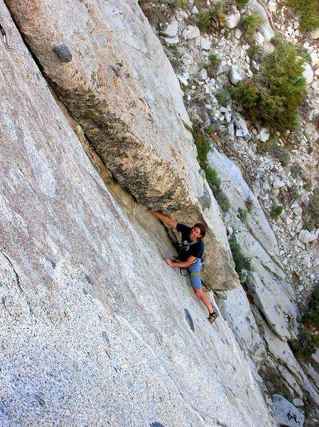"Rock Climbing Photo: The corner on ""Corner Pocket""."