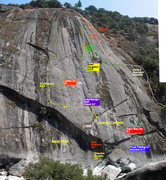 Rock Climbing Photo: Right up the line is between  Gutenberger Wall and...