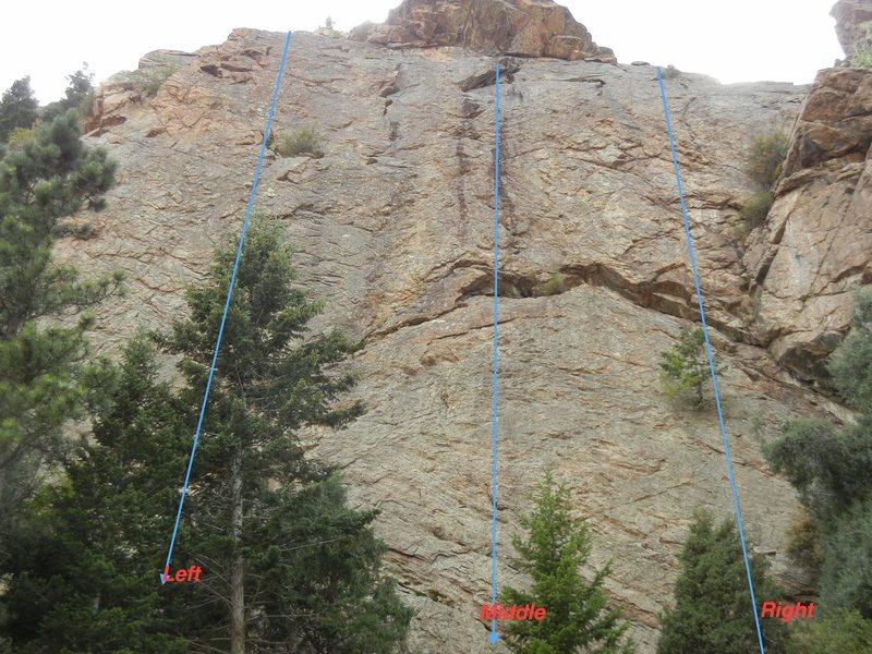 Rock Climbing Photo: 3 climbs all bolted, good rock, face climbing, sha...