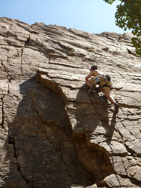 Rock Climbing Photo: Leading G.I. Joe