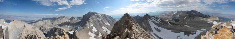 Rock Climbing Photo: Nearly 360 panorama from the East Summit of Russel...