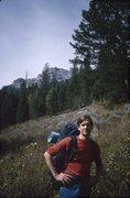 Rock Climbing Photo: Roger approaching Mt Moran (1987)