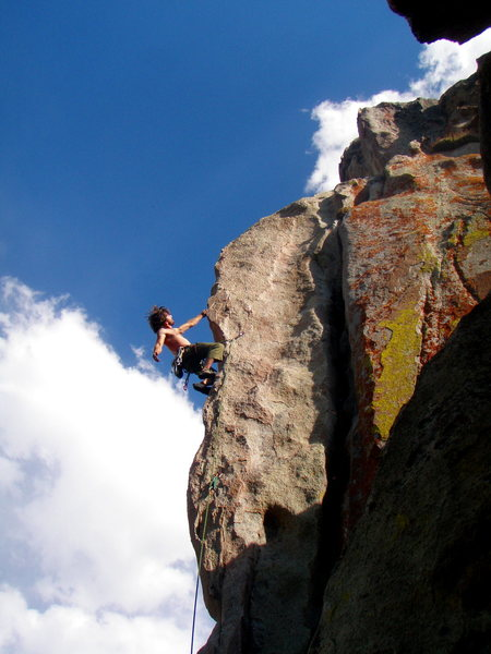 Shaking out before the crux. photo Greg Troutman