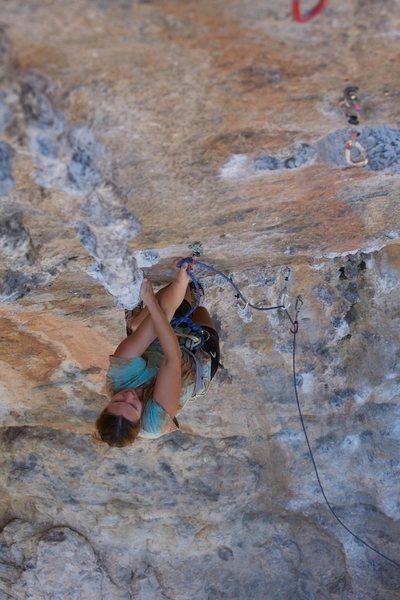Rock Climbing Photo: Anja on Kastor at Arhi on Kalymnos.  Photo by Ram ...