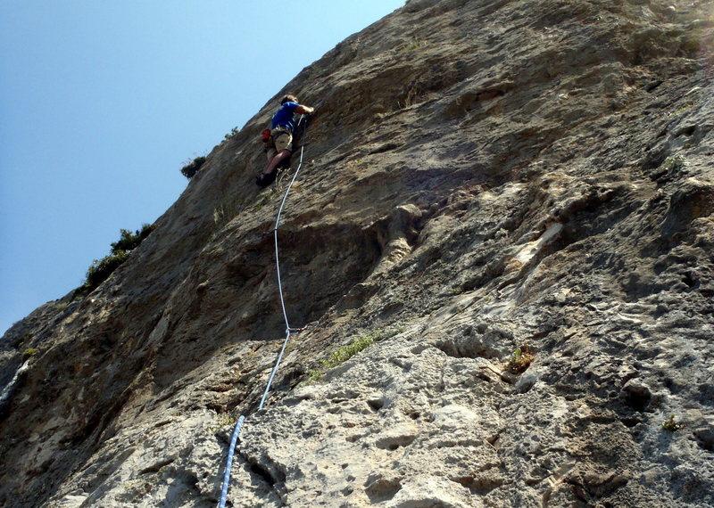 Rock Climbing Photo: Me on Axe at Arhi on Kalymnos