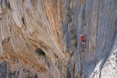 Rock Climbing Photo: Me on Neridi at Arhi on Kalymnos.  Photo by Ram Sr...