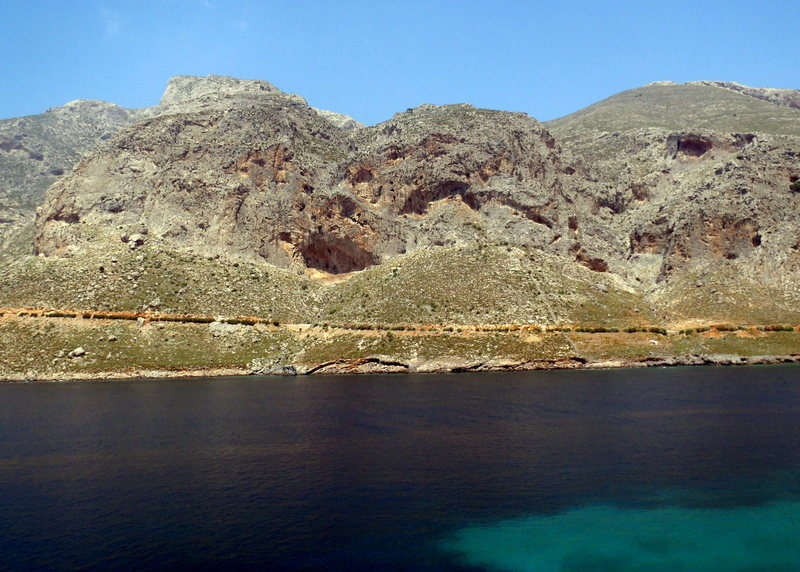 Rock Climbing Photo: Arhi from across the bay.  Walls are to the left a...