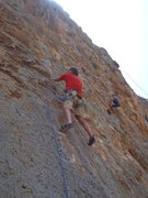 Rock Climbing Photo: The start of Pornokini at Arginonta.