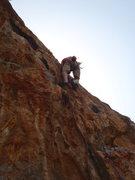 Rock Climbing Photo: On the pumpy reachy start.