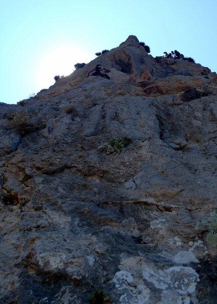 Rock Climbing Photo: Unknown climber on Pillar of the Sea