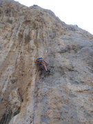 Rock Climbing Photo: Starting up Atena.