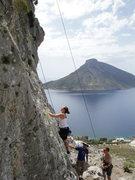 Rock Climbing Photo: Kristen top roping.
