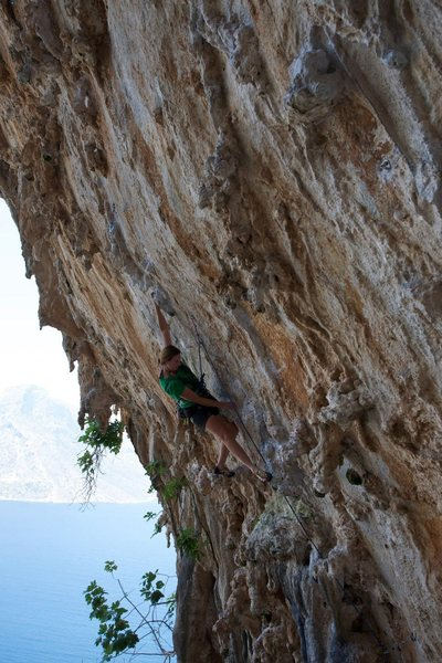 Rock Climbing Photo: The well protected crux of Aphrodite.  Photo by: R...