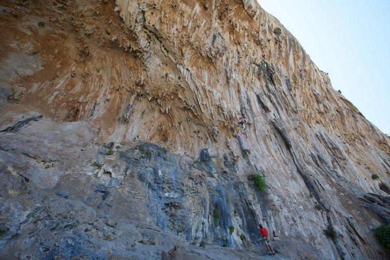 Rock Climbing Photo: Anja red pointing Trela.