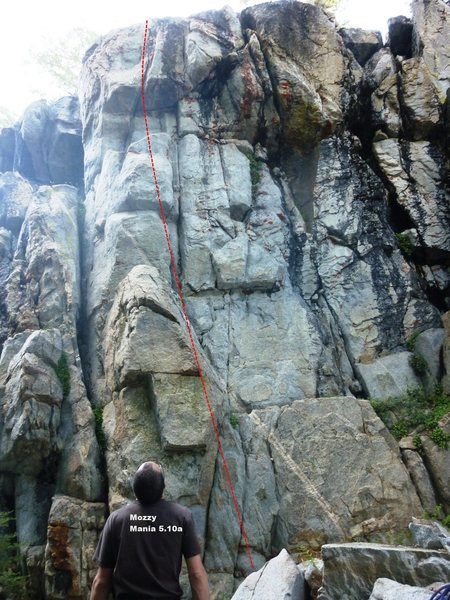 Rock Climbing Photo: Mozzy Mania 5.10a, Topo